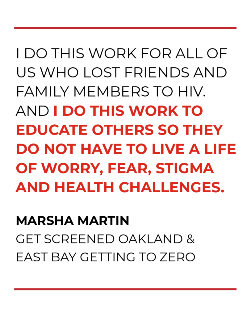 Marsha Martin wants you to know: HIV is not over