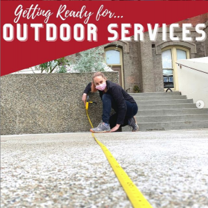 Project Homeless Connect gets ready for outdoor services