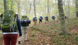 backpacking hikers
